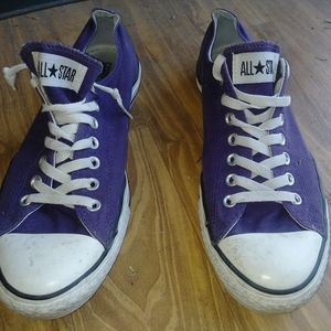 Men's All Star Converse low-rise purple size 11